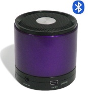 GadgetinBox™ Bluetooth Wireless Speakers for iPhone's / iPod's / iPad's / Laptops / Mobiles / Mp3 player devices (Purple)