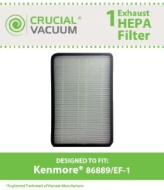 Kenmore 86889 EF-1 Exhaust HEPA Vacuum Filter; Compare to Sears Kenmore Part# 86889 (or 20-86889), 40324, EF1 & Panasonic Part # MC-V194H (MCV194H)
