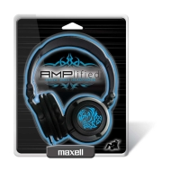 Maxell AMP-B Amplified Heavy Bass Headphone (Blue)