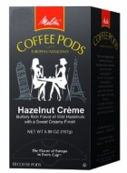 Melitta Coffee Pods Hazelnut Creme Flavored Coffee Medium Roast 18Count Pack of 4