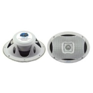 Pyle Lanzar AQ69CXW 500 Watts 6-InchX9-Inch 2-Way Marine Speakers (White)