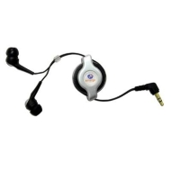 Retractable Stereo Earphone (Wired - Binaural)