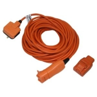 Masterplug Outdoor Power WRRL1510-MS 15 m 2-Pin IP44 Extension Lead with Heavy-Duty Plug (Orange)