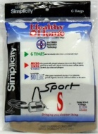 Simplicity Vacuum Bags SS-6 Type S, Sport