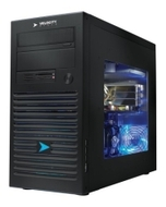 Velocity Micro Edge Mx115 Desktop PC - Intel Core 2 Quad Q6600 2.4GHZ, 4GB DDR2-800, 500GB SATA II, DVDRW-LS, NVIDIA GeForce 9800 GT, Gigabit LAN, 40
