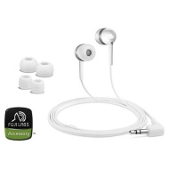 FujiLabs White Acoustic Isolation Silicone Earbuds
