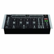 "Gemini 19"" 4-Channel Mixer w/Effects, 7 lines 2 phono/line convertible RCA inputs"