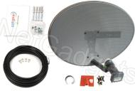 Satgear Sky/Freesat Complete Self-Install Kit - New Mk4 Sky Satellite Mini Dish kit with Quad LNB, fixings and 10m twin cable Ideal for Sky+ or Frees