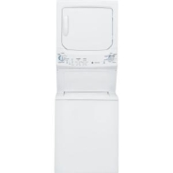 GE GE Unitized Spacemaker Washer and Electric Dryer in White GTUP270EMWW,