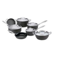 CUISINART GREEN GOURMET COOKWARE 12PC ST ANODIZD **FREE FEDEX 2-3 DAY**
