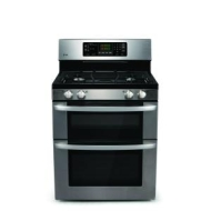 "LG - 30"" Self-Cleaning Freestanding Double Oven Electric Range - Stainless-Steel"