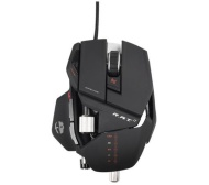 Mad Catz R.A.T. 7 Ratón gaming (6 botones, 6400 DPI, USB), color blanco