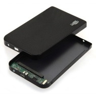 "LUPO 2.5"" Inch IDE USB 2.0 Hard Drive Case (PC & MAC) - BLACK"