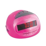 Lloytron J2002PK Sonata AM/FM Radio Alarm Clock - Pink