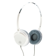 Ministry of Sound 005 Headphones - White/Grey with Grey Cable