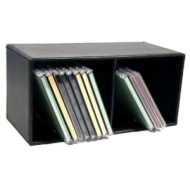 Black Leather Look and Feel CD Unit ( Holds up to 26 CDs )