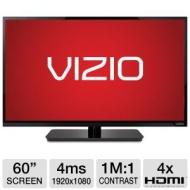 Vizio E-Series 60-Inch (60.4-Inch Viewable) 1080p (Full HD) Class Edge Lit Razor LED - Backlit LCD - Smart TV - E601I-A3