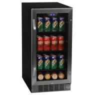 Edgestar 80 Can Built-in Beverage Cooler - Black/stainless Steel W/ Free Shp