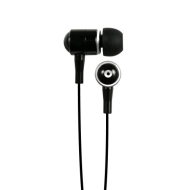 Hip Street HipBudz Antimicrobial Noise Isolating Stereo EarBuds With In-Line Volume Control (Black)