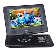 "Koolertron 9"" Portable DVD Player With 180° Rotating Swivel LCD Built in Rechargable Battery Game Player As Birthday Xmas Present For Kids And Parents"