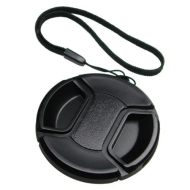 Mennon Pro Center Pinch 52mm Snap-On Lens Cap with Leash