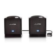 SubSpace Compact Hi-Fi 2.0 USB Laptop Speaker - Brushed Aluminum (Black Satin)