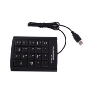 USB 19 Key Number Numeric Keypad Keyboard for Laptop