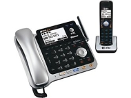 Cordless Phone - 1.90 GHz - DECT 6.0 (2 x Phone Line - 4 x Handset - Answering Machine - Caller ID - Speakerphone)