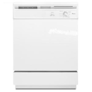 Amana White Full Console 24 Inch Dishwasher ADB1000AWW