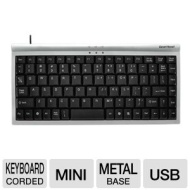 Gear Head KB1500U Mini Windows Keyboard - USB 89 Keys Silver/Black New