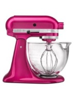 KitchenAid Artisan Design Series Raspberry Ice 5 Quart Stand Mixer with Glass