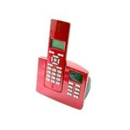 Olympia digitales schnurloses Telefon Modell Certo answer single mit Strahlungsreduzierungsfunktion ECO Mode und Anrufbeantworter Farbe rot