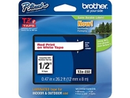 "Brother® TZe-232 P-Touch® Label Tape, 1/2"" Red on White"