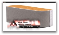 Wren V5AP powered speaker with AirPlay (rosewood)