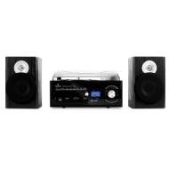 auna TT-190 Stereoanlage Plattenspieler MP3-Aufnahme CD-Player SD USB Kassette