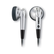 Coby Electronics Wired Connectivity Stereo Earbud Silver
