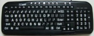 ErgoGuys Ezsee Low Vision Keyboard Large White Print Black Keys - CD-1039