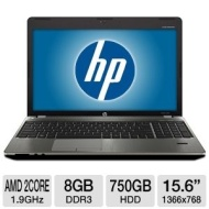 HP ProBook 4535S B5N73UT Notebook PC - AMD Dual-Core A4-3300M 1.9GHz 8GB DDR3 750GB HDD DVDRW 15.6 Refurbished