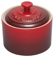 Le Creuset Stoneware Sugar Bowl with Lid, Cerise, 300 ml