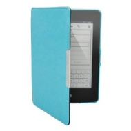 Light Blue Magnet Magnetic Leather Cover Sleeve Case With Sleep Mode For Amazon Kindle Paperwhite and Paperwhite 3G