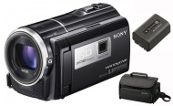 Sony HDR-PJ260V 16GB 8.9 MP Stills 30x Optical HD Projector and Camcorder Bundle