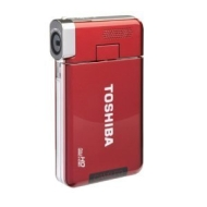 TOSHIBA S30 HIGH DEFENITION POCKET CAMCORDER (IN BURGUNDY) INCLUDING 4GB TOSHIBA HIGH SPEED & SECURE SD CARD FOR UP TO 3800 IMAGES & 5 HOURS OF DIGITA