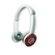 CLiPtec® BMH708RD Modenz Soft Leather Folding Stereo Headphones - Red/White