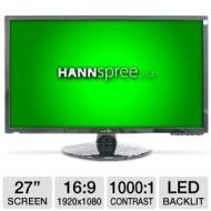 Hannspree I-Inc IL272DPB 27 Class Widescreen LED Backlit Monitor - 1920 x 1080, 16:9, 1000:1 Native, 2ms, DVI, VGA, Energy Star