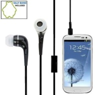 Premium Quality Stereo Handsfree Headset Headphone Earphone with Built in mic for Samsung Galaxy S3 Slll i9300-Black