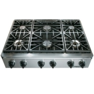 "ER36DSCH/LP Dacor 36"" Epicure Pro Style Dual Fuel Range - Liquid Propane - Stainless Steel with Chro"