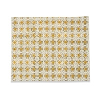 Caravan Collection by Couleur Nature Bleu D'Chine Placemats, 15-inches by 22-inches, Olive Green, Set of 4