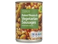Tesco Baked Beans & Vegetarian Sausages