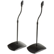 AmazonBasics Satellite Speaker Stands Black 2-Piece Set