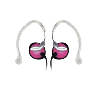 -Pink Clipper Lightweight Clip-On Stereophone with In-Line Volume Control - V46614